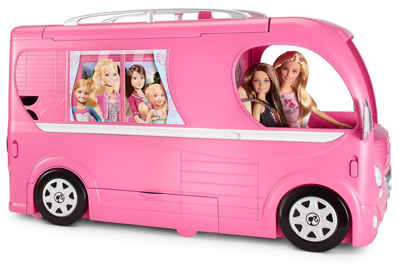barbie pop up camper van kids girls gift pink children. Black Bedroom Furniture Sets. Home Design Ideas