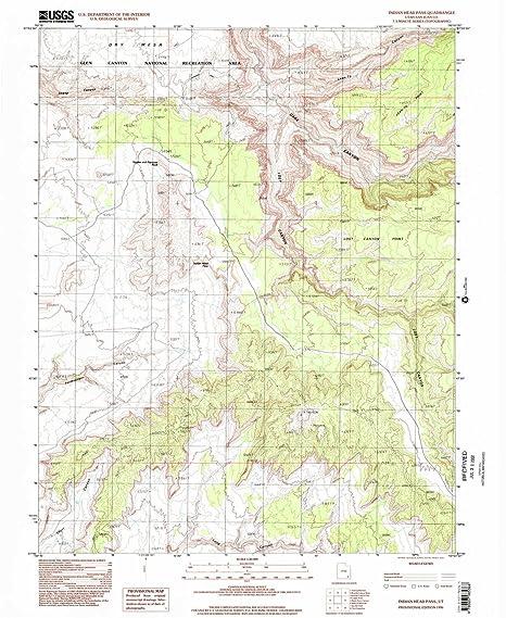 Amazon.com : Indian Head Pass UT topo map, 1:24000 scale, 7.5 X 7.5 ...