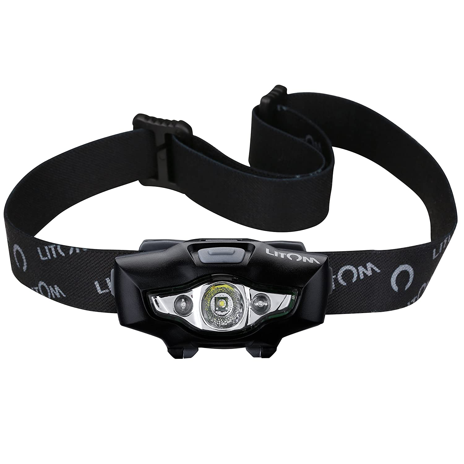 Litom Lhl2 Headlamp Flashlight With White Red Led Battery