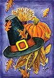 Toland Home Garden Pilgrim's Delight 12.5 x 18 Inch Decorative Fall Autumn Thanksgiving Harvest Garden Flag