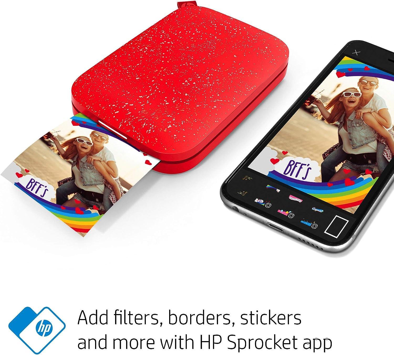 Amazon.com: HP Sprocket Impresora fotográfica portátil (2ª ...