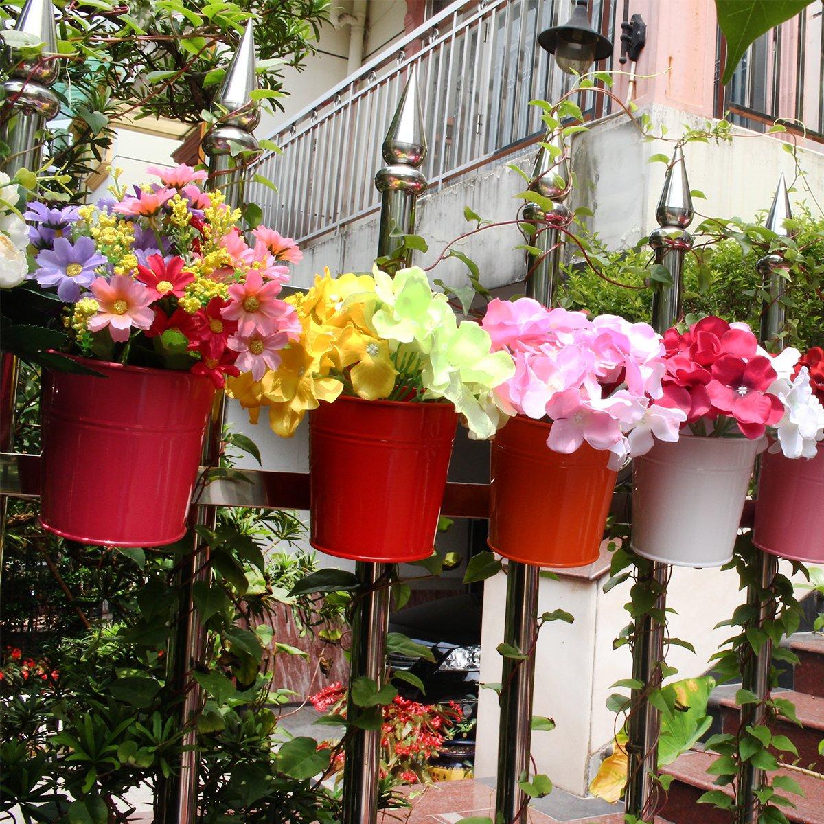 Metall, Eisen, Blumentopf Vase Hängen Balkon Garten Pflanzer Home ...