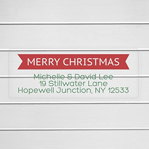 amazon com 60ct merry christmas return address labels clear