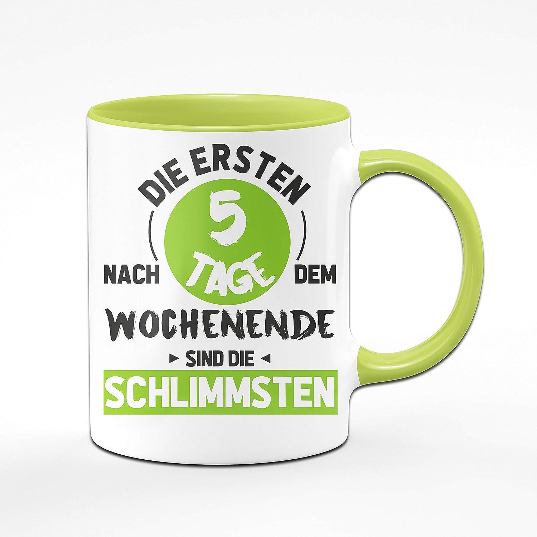 Faultier Kaffeetasse Kaffeebecher Teetasse Tasse mit lustigem Spruch Motivation