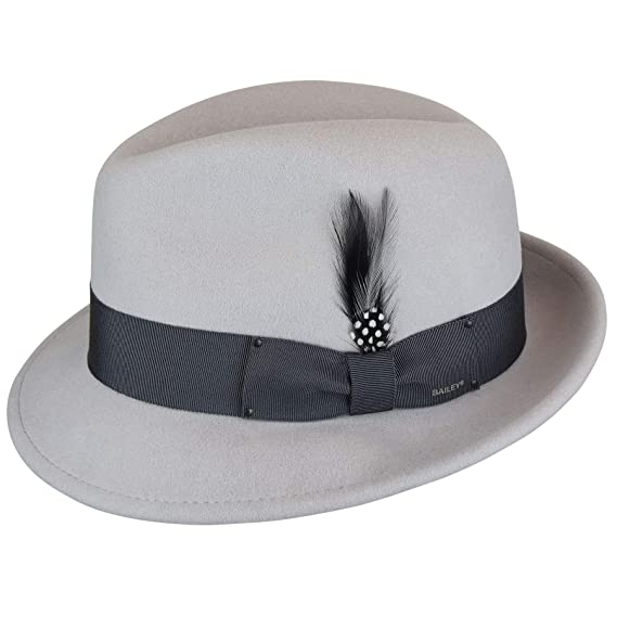 Bailey Men s Tino Trilby Hat Fedora  Amazon.co.uk  Clothing 4d477ad04d03