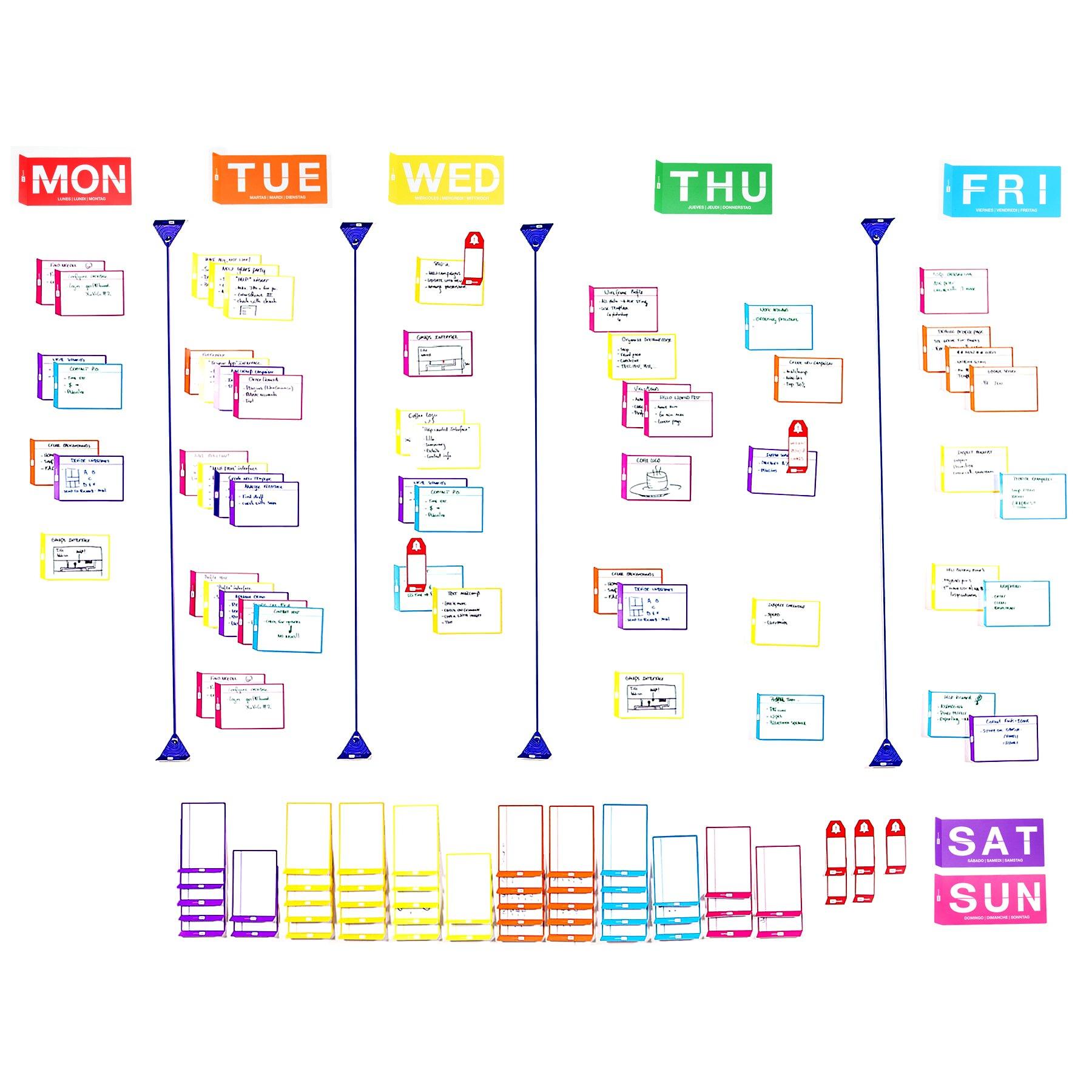 Agile weekly planner board set - full