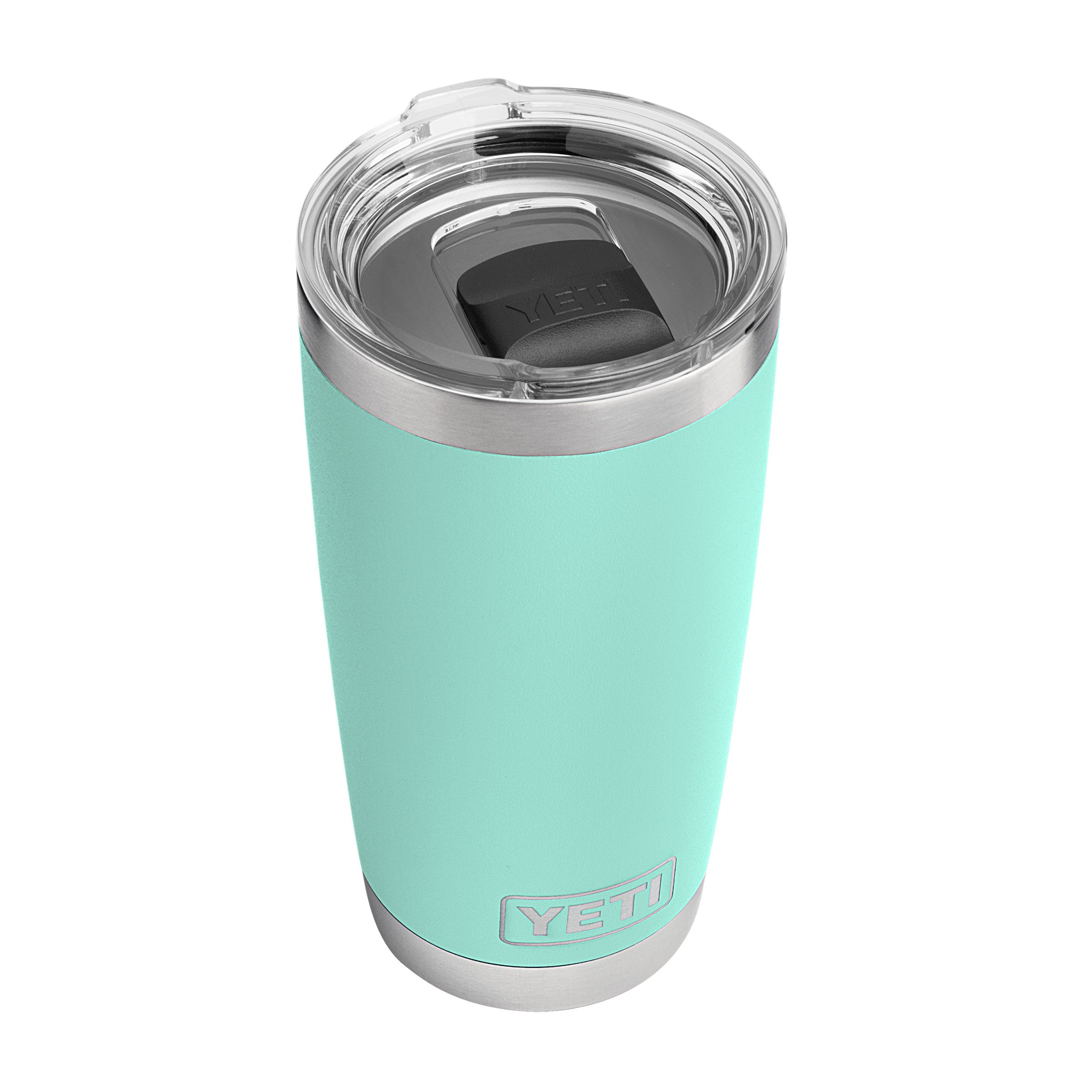 YETI Rambler 20 oz Stainless Steel Vacuum Insulated Tumbler w/ MagSlider Lid, Seafoam by YETI