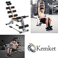 Kemket Multifunctional 6in 1, panca per esercizi per addominali e dorsali, cyclette premium fitness con volano interno magnetico di 5 e 4kg