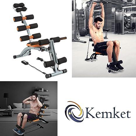 Multifuncional Kemket 6 en 1Six ejercicio banco Abdominal Hangerworld cuidado y traseros - entrenador imagen y color puede variar ligeramente Kemket 6in1 ...