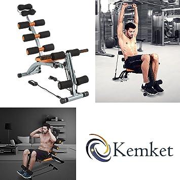 Multifuncional Kemket 6 en 1Six ejercicio banco Abdominal Hangerworld cuidado y traseros - entrenador imagen y