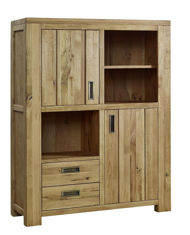Schrank Highboard 'Moderna' 115x148,5cm Wildeiche geölt Holz massiv