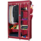 CbeeSo Portable Wardrobe Closet (Maroon)
