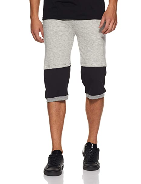 Demokrazy Men's Relaxed Fit Casual Trousers (CAP008_XXL_Grey and Black_XX-Large) Casual Trousers at amazon