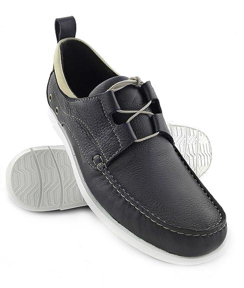 Zerimar Zapato Náutico de de Náutico Piel Para Hombre Náutico Para Hombre 95dc00