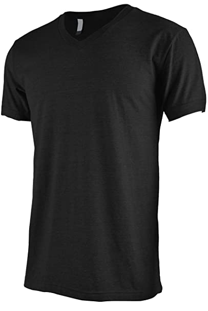 9a677f5b0 Image Unavailable. Image not available for. Color: ViiViiKay Mens Short  Sleeve Basic Slim Fit Tri-Blend and Cotton V Neck T Shirt