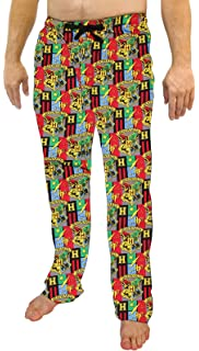 Harry Potter Mens Hogwarts 4 Houses Crest Pajama Pants