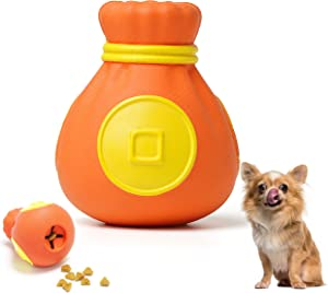 Dog Chew Toy, Puppy Teething Clean Toys, Nature Rubber Interactive Dog Toys, Durable Dog Dispensing Toys for Small Dogs