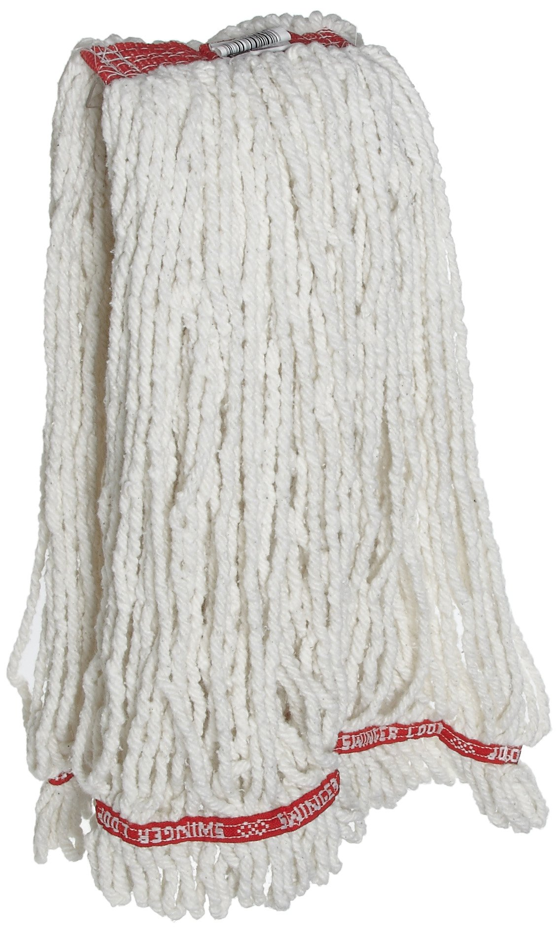 Rubbermaid Commercial Swinger Wet Mop, Large, White, Pack of 6, FGC21306WH00