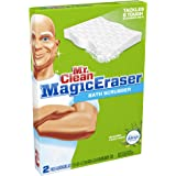 Mr. Clean Magic Eraser Bath Scrubber, with Febreze Meadows and Rain Scent, 2 Count (Pack of 16)