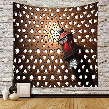 Amazon Com Iprint Polyester Tapestry Wall Hanging Lantern Egyptian