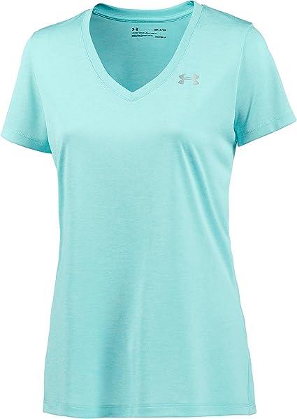 Under Armour Womens 2020 UA Tech Solid V Neck T Shirt Gym Fitness Sports Run Tee