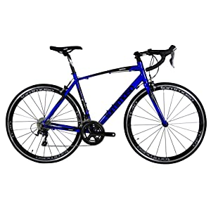 Tommaso Monza Endurance Aluminum Road Bike, Carbon Fork, Shimano Tiagra, 20 Speeds, Aero Wheels - Blue - Extra Large