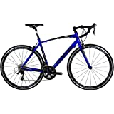 Tommaso Monza Endurance Aluminum Road Bike, Carbon Fork, Shimano Tiagra, 20 Speeds, Aero Wheels, Matte Black, Blue