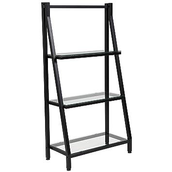 Amazon Com Flash Furniture Highland Collection Glass Bookshelf With