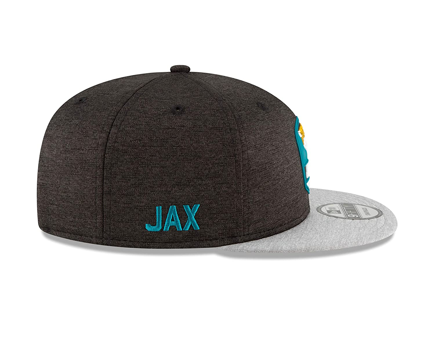 Amazon.com   New Era Jacksonville Jaguars 2018 NFL Sideline Road Official  9FIFTY Snapback Hat   Sports   Outdoors a70c92ca925