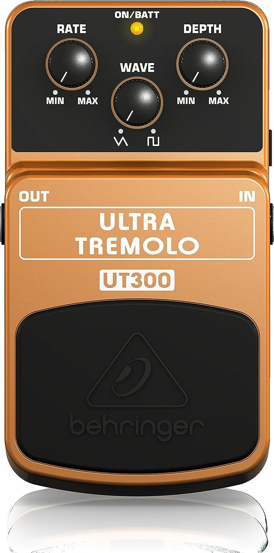 Behringer UT300 - Pedal de efecto vibrato para guitarra, color naranja