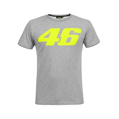 Valentino Rossi VR46 Moto GP Core Large Logo Gris Camiseta Oficial 2018