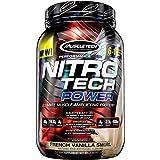 MuscleTech Nitro Tech Power Whey Protein Powder Musclebuilding Formula, French Vanilla Swirl, 2 Pounds