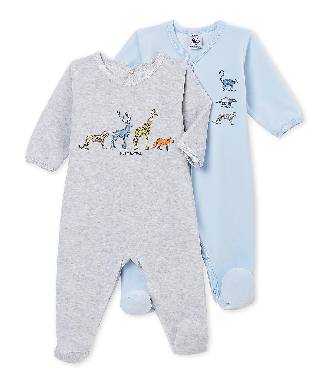 Petit Bateau Lot Trema, Camiseta de Pijama para Bebés (Pack de 2) 4366299