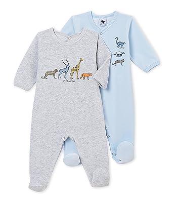 a5f2f2bc07c7d Petit Bateau Pyjama Bébé garçon (Lot de 2)  Amazon.fr  Vêtements et  accessoires