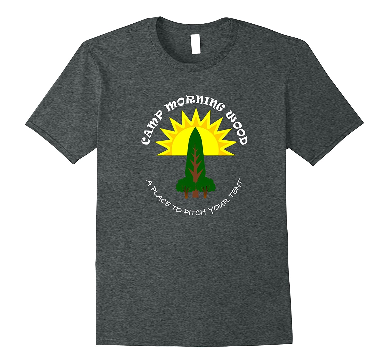 Camp Morning Wood Funny T-shirt-T-Shirt