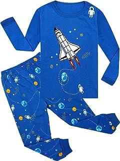 Cczmfeas Boys Pajamas Aircraft Kids Pjs Sets Cotton Toddler Long Sleeves Sleepwears
