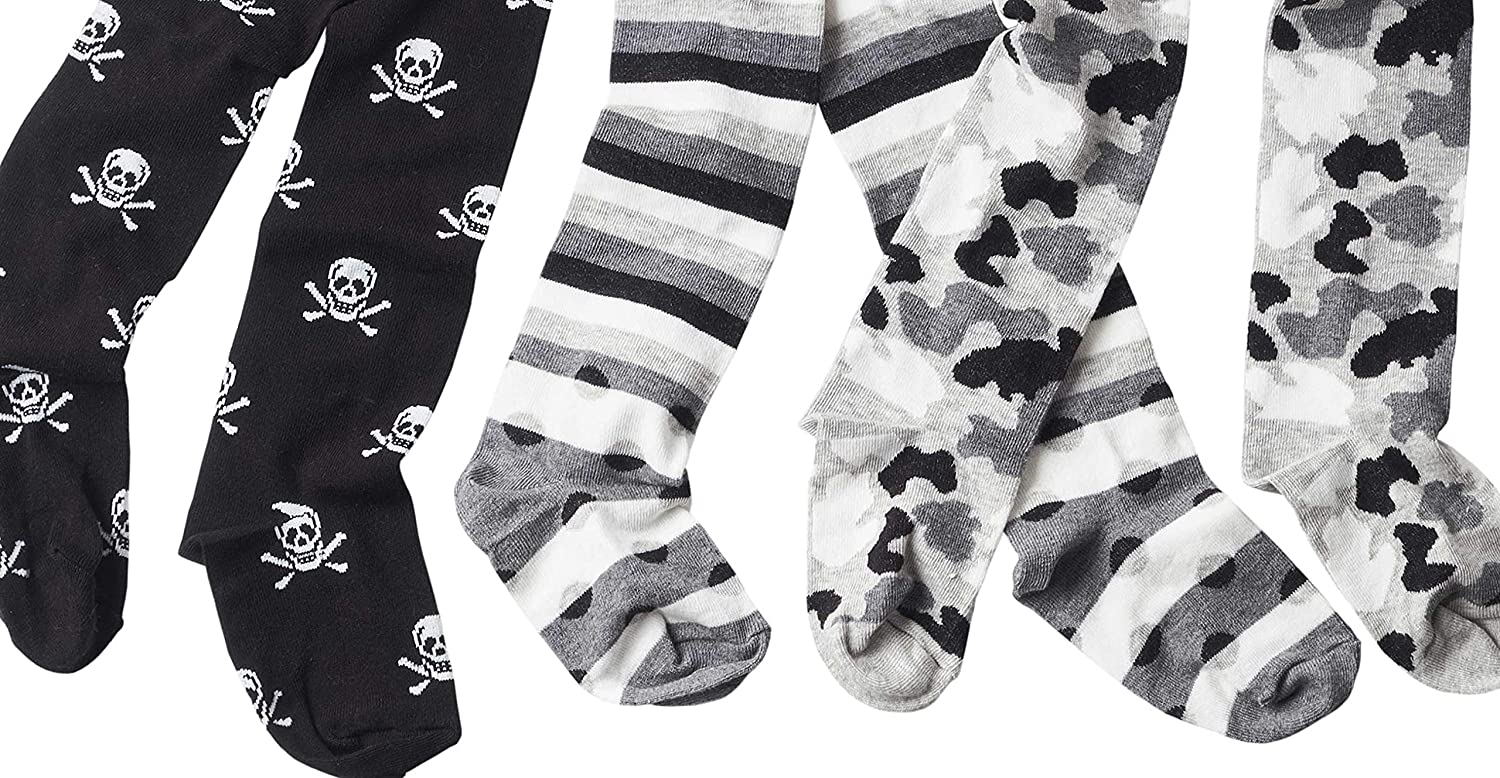baby tights//childrens tights skull and camouflage pattern set of 3 gr 62-128 wellyou baby//kids tights for boys