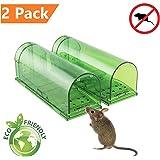 ZenJäger 2X Pack Mäusefalle - Mäuse Lebendfalle - Lebende Tierfalle-Umweltfreundlich-innerhalb und außerhalb des Hauses