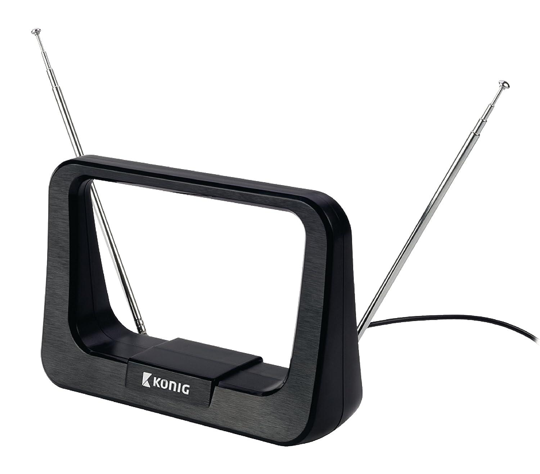 Antena Interior FM//VHF//UHF//DVB-T de 5-7 dB K/önig Ant 116-KN Color Negro