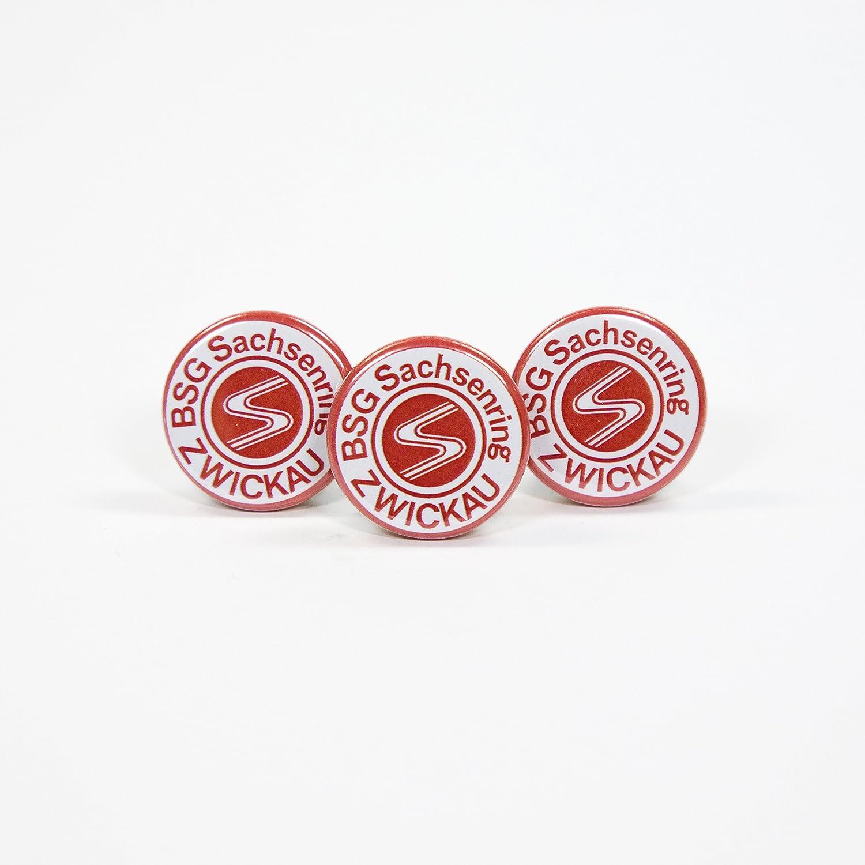 BSG Sachsenring Zwickau Button Wappenanstecker 22 mm 3 St/ück