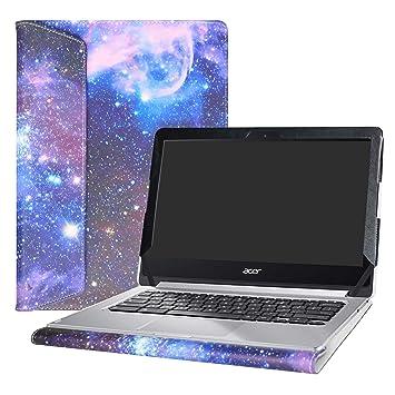 """Alapmk Diseñado Especialmente La Funda Protectora de Cuero de PU para 13.3"""" Acer Chromebook R13"""