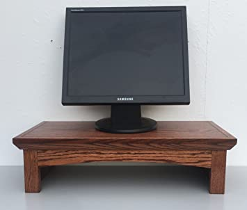 Amazon Com Ideas To Home Tv Monitor Riser Stand Shaker Style In Oak