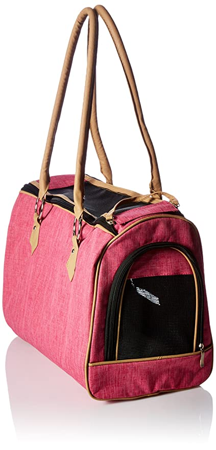0557365eedfd Amazon.com: FrontPet Luxury Handbag Dog Purse, Stylish Soft Sided Pet  Carrier for Small Dogs and Cats, Pink: Pet Supplies
