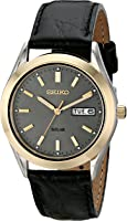 Seiko Men's Solar Watch with Grey Dial