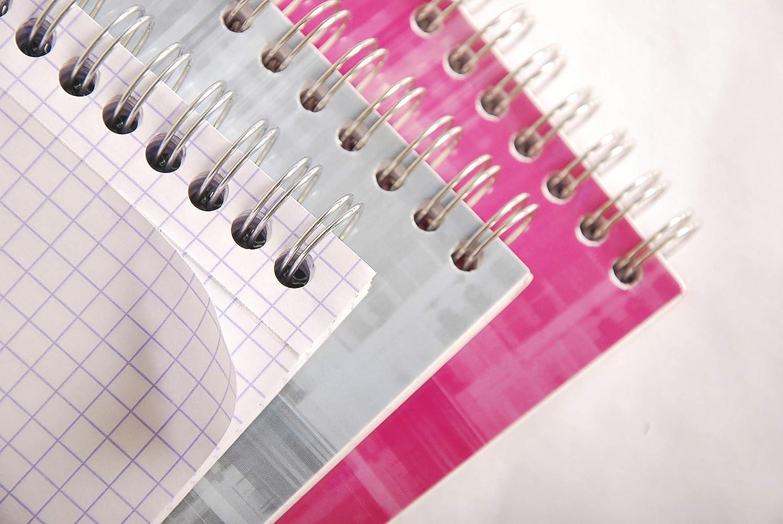 1 St/ück farbig sortiert Clairefontaine 8662C Spiralblock DIN A5 kariert 80 Blatt ideal f/ür Notizen