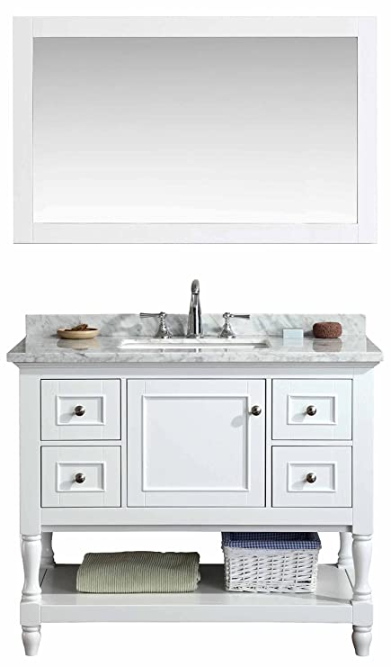 Ari Kitchen And Bath Akb Cape 42 Wh Cape Cod Vanity Set With Mirror