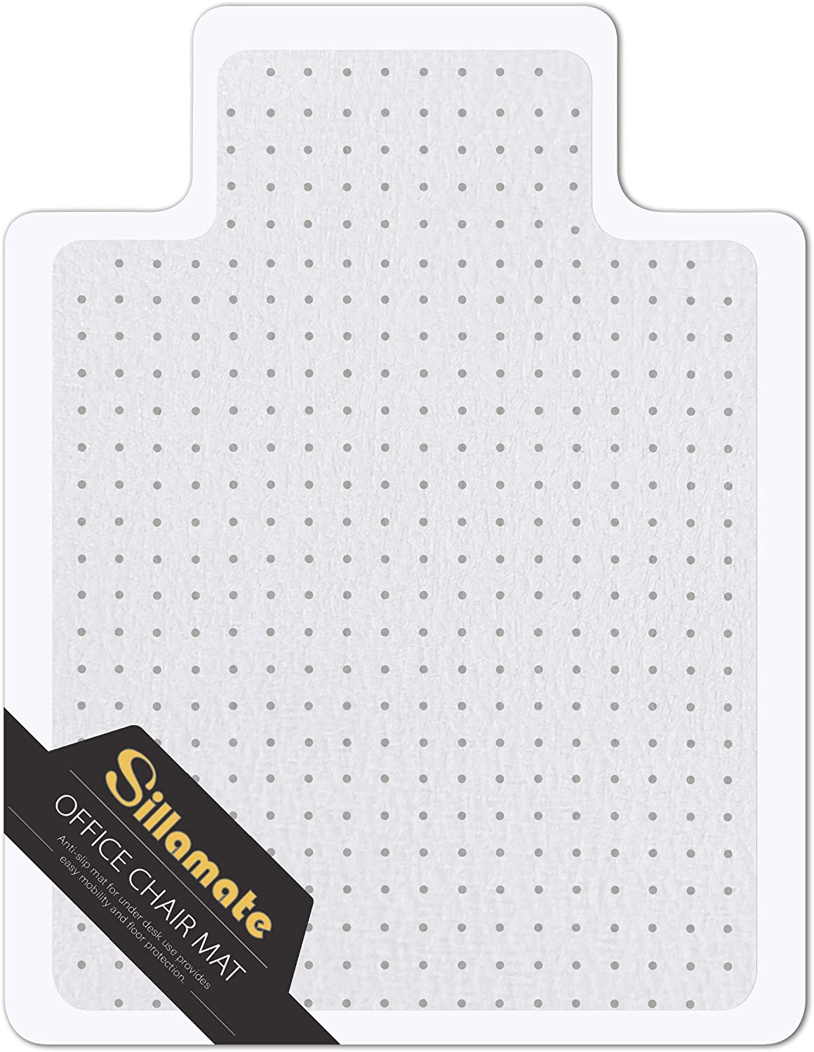 Sillamate Office Chair Mat for Carpeted Floors, Heavy Duty Floor Mat,Eco-Friendly Series Studded Carpet Desk Chair Mats-36'' x 48'' (36 inches X 48 inches)