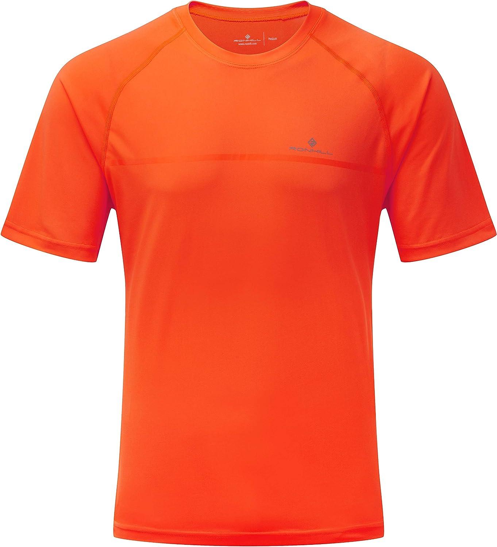 RonHill Mens Everyday Short Sleeve Running T Shirt Tee Top Grey Sports