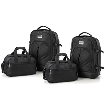 Image Unavailable. Image not available for. Colour  Set of 4 - Aerolite  Ryanair Maximum Cabin Allowance 55x40x20cm Backpack and 35x20x20 Second Bag  ( dd2c5253bc