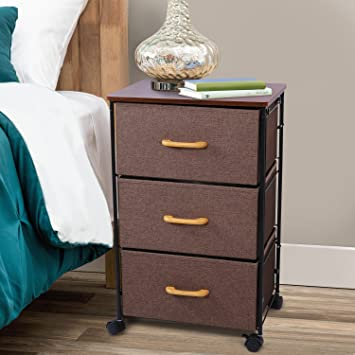 Lifewit Modern Metal Nightstands Rolling Accent Table With Drawer And  Storage Cabinet For Bedroom, Entryway